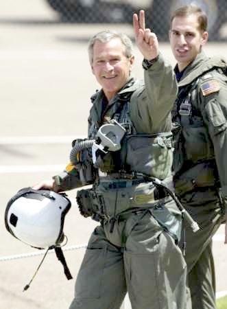 L'event qui aurait du frapper le monde ... Bush-pilot